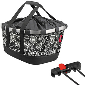 KlickFix Reisenthel GT Bike Basket for Racktime, fleur black